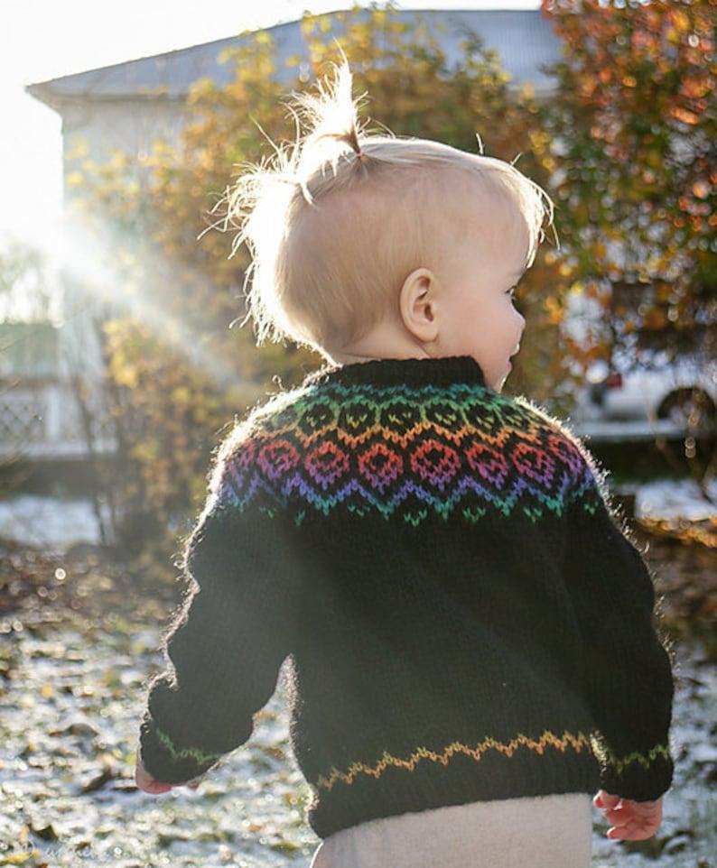 ced61dd6 Rainbow Lopi Sweater | Etsy