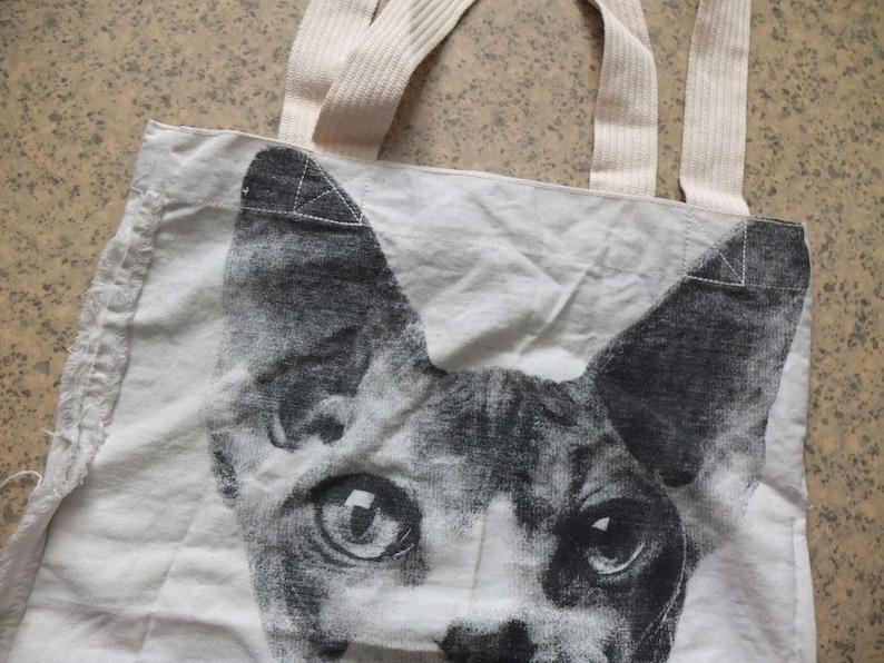 Sphynx Cat Animal Goth Punk Beach Bag Canvas Tote Bag