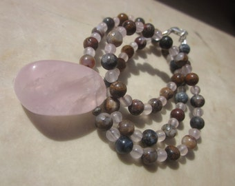 Pietersite Rose Quartz Necklace: let's dance!