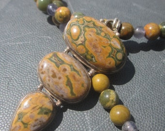 Ocean Jasper Iolite Necklace