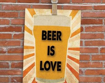 Beer Is Love - Card - Blank Inside