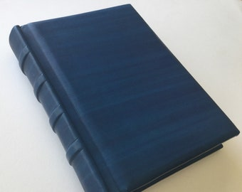 READY TO SHIP Old Style Blue Leather Journal