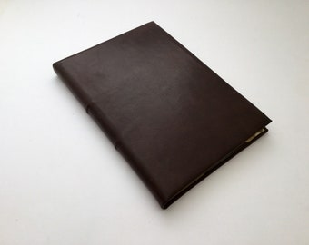 Dark Brown Leather A5 Journal w/ Tomoe River