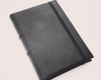 READY TO SHIP Black Leather A5 Journal