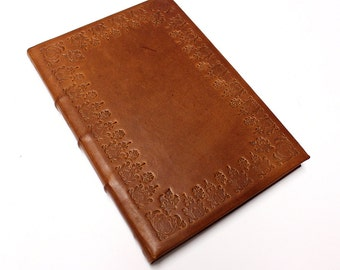 Brown Leather Decorated A5 Journal w/ Tomoe River