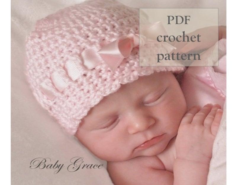 Baby Crochet Pattern Baby Hat Crochet Pattern Newborn Hat Etsy
