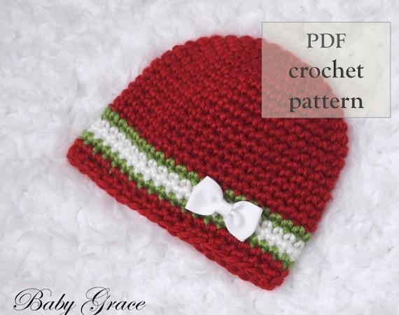 46533a67639 Easy Baby Hat Crochet Pattern Newborn Beanie Pattern Baby
