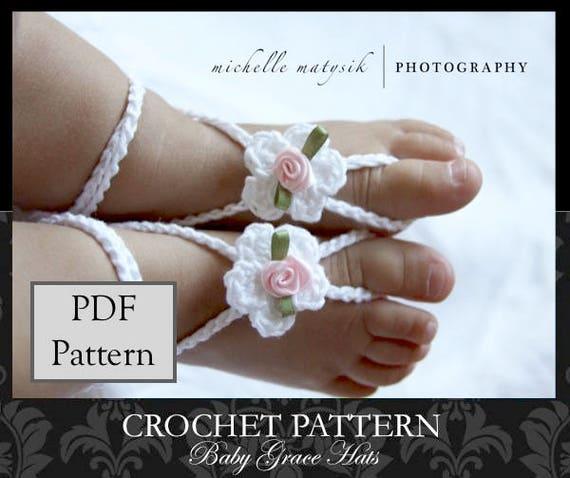 Baby Barefoot Sandals Pattern Baby Sandals Pattern Crochet Etsy