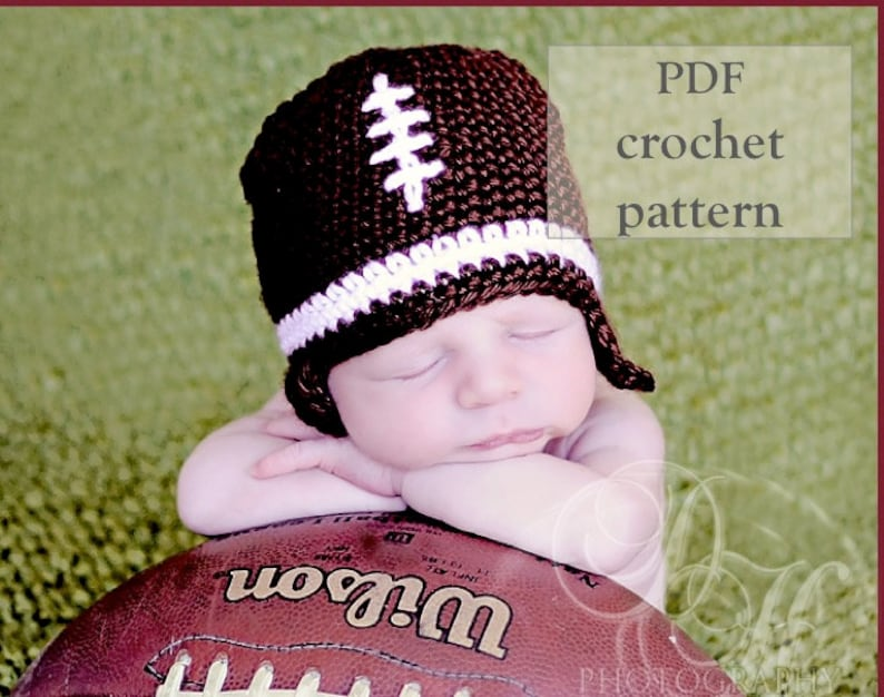 Baby Football Hat Crochet Pattern Baby Shower Gift Baby Boy Etsy