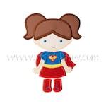 Super Girl (Pigtails) Applique Design