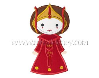 Star Queen Applique Design