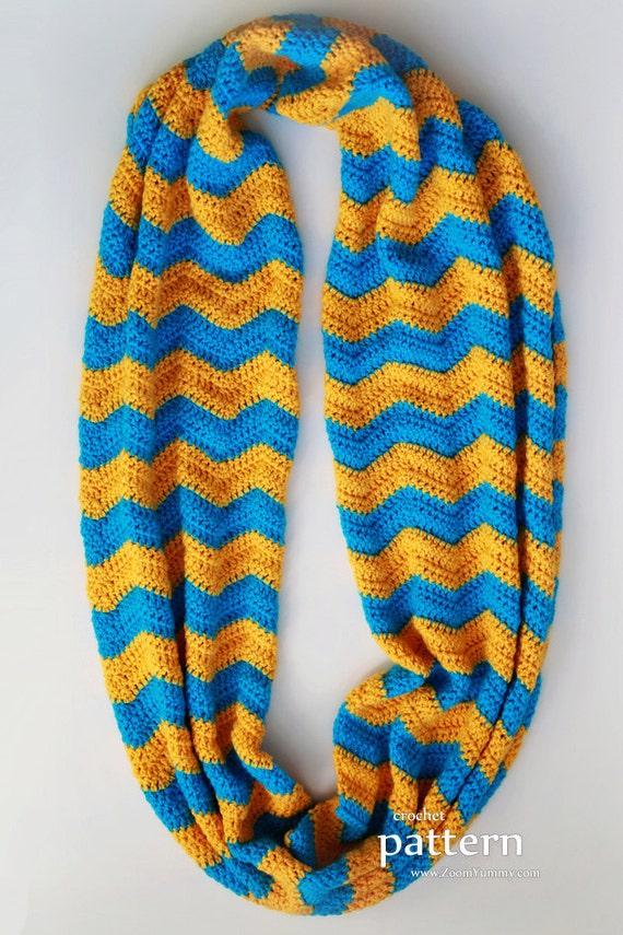 Crochet Pattern Crochet Chevron Infinity Scarf Pattern No Etsy