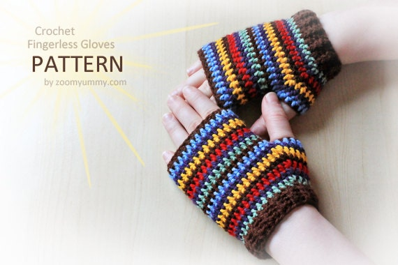 Crochet Pattern Crochet Fingerless Gloves Pattern No 047 Etsy