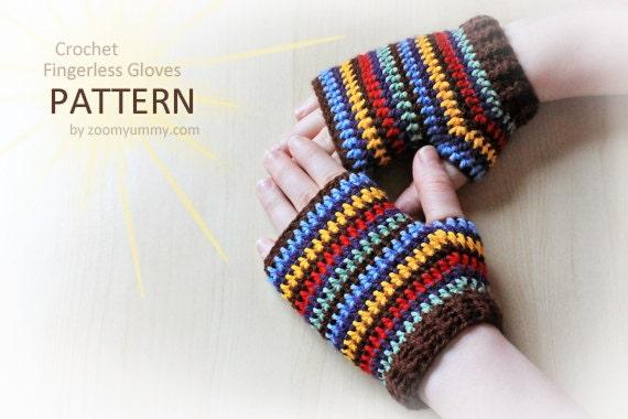 Crochet Pattern Crochet Fingerless Gloves Pattern No 047 Etsy