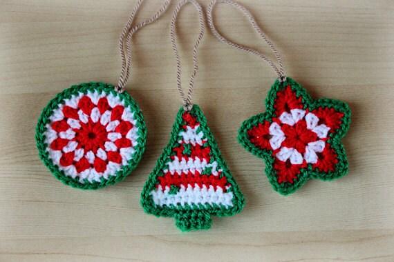 Crochet Christmas Ornaments Pattern.Crochet Pattern Crochet Christmas Ornaments Pattern No 021 Instant Digital Download