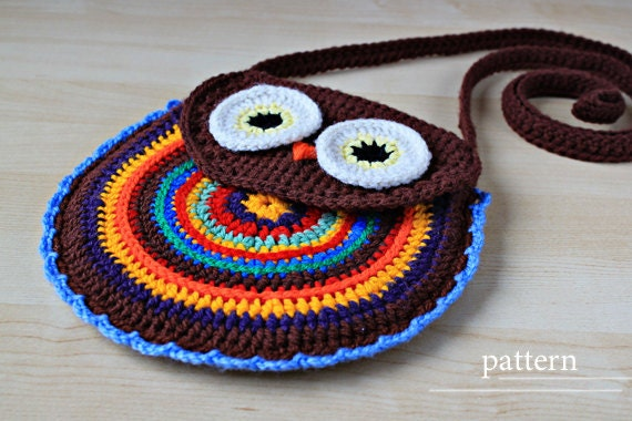 Crochet Pattern Crochet Owl Purse Pattern No 005 Etsy