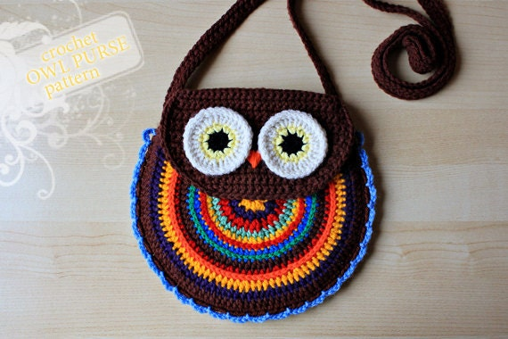 Crochet Pattern Crochet Owl Purse Pattern No 005 Etsy