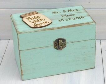 Recipes Organizer - Rustic Recipe Boxes - Recipe Storage - Wood Recipe Boxes - Farmhouse Style Gift - Fixer Upper Style - Fixer Upper Market