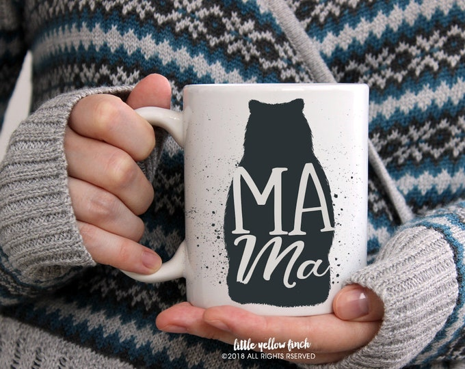 Featured listing image: Mama Bear, Coffee Mug, Coffee Cup, Mother's Day Gift, Gift for Mom, Mother's Day Mug, Novelty, Cute, Mom, Birthday Gift Mom, Mom