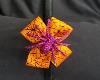 Purple Glitter Spider Headband