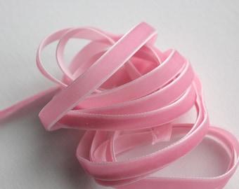 "3/8"" Velvet Ribbon in Pink - 5 yards - Wedding Ribbon - Bridal Ribbon - Valentine Trim - Sewing Trims"