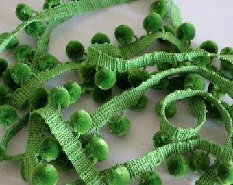 Heavy Pom Pom Fringe - Green - Simplicity Brand - 3 yards - Upholstery Fringe
