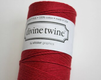 Red Divine Twine - 240 yards of Baker's Twine - Full Spool