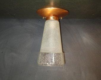 Vintage Ceiling Light Fixture-Cone Shaped-Copper Light Fixture