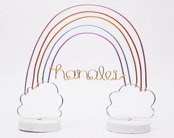 Personalized Rainbow Cake Topper / Rainbow Nursery Decor / Custom Rainbow Decor / Rainbow Baby Nursery Decor / Rainbow Birthday Cake Topper