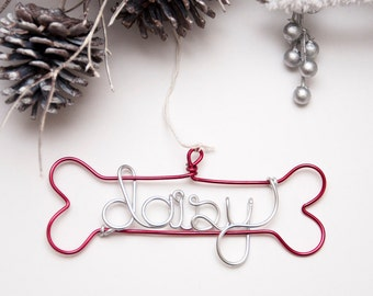 Personalized Dog Ornament / Family Pet Ornament / Dog Name Ornament / Holiday Ornament / Holiday Decor / Christmas Decor / Pet Lover Gift