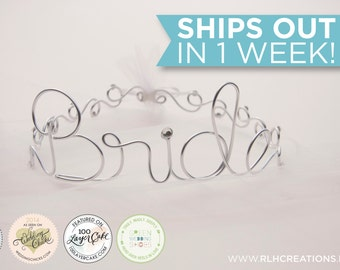 Personalized Tiara / Personalized Crown / Bachelorette Tiara / Birthday Tiara / Wire Name / Wire Name / Crown / Tiara / Tiara with Veil