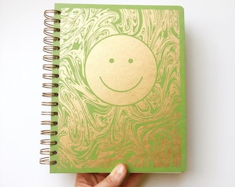December 2021 - January 2023 Smiley Planner, Grass Green
