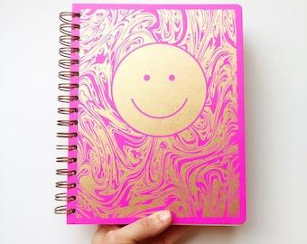 December 2021 - January 2023 Smiley Planner, Fuchsia Pink
