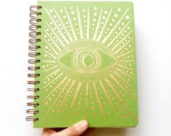 December 2021 - January 2023 Seeing Eye Planner, Grass Green