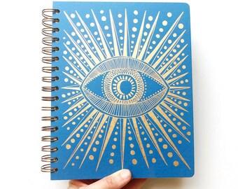December 2021 - January 2023 Seeing Eye Planner, Sapphire Blue