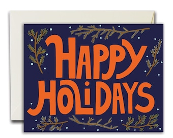 Happy Holidays Branches Card