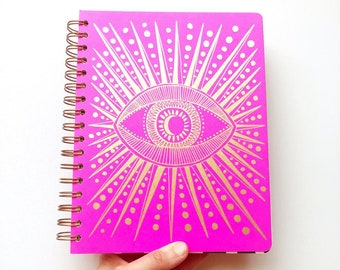 December 2021 - January 2023 Seeing Eye Planner, Fuchsia Pink