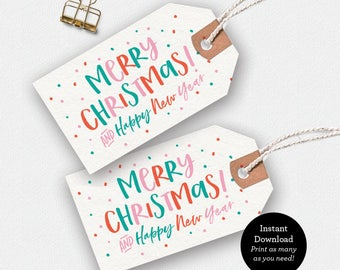 christmas gift tags christmas printable christmas tags etsy