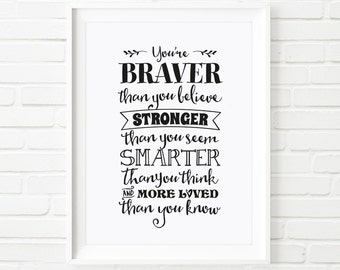 Digital Print Winnie The Pooh Quote Printable Art Youre Etsy