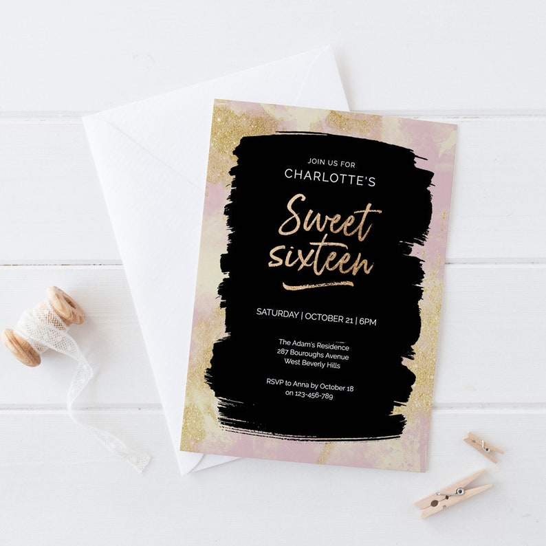 Sweet Sixteen Birthday Invitation 16