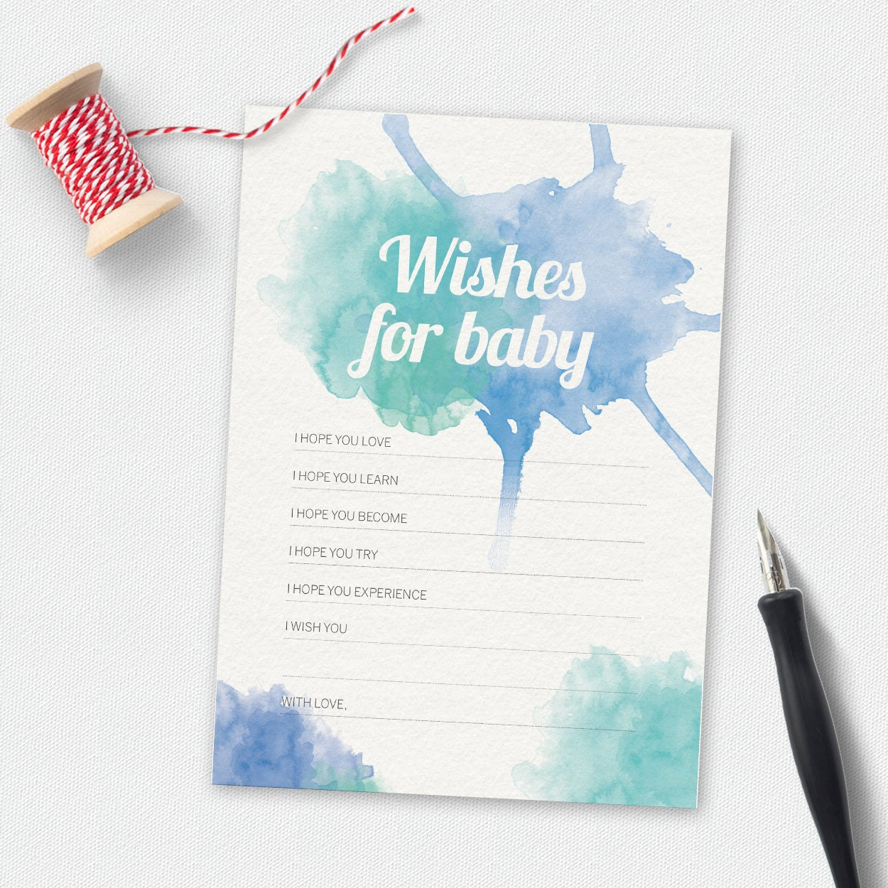 Printable Wishes for baby baby shower wishes babyshower | Etsy