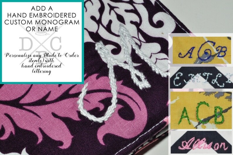 Add a Custom/Personalized Monogram to any Made to Order image 0