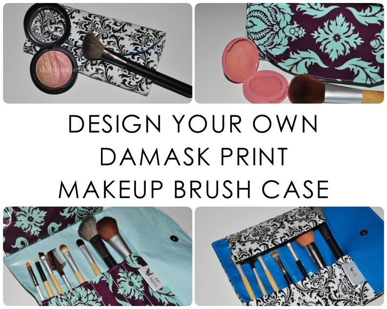 Damask Travel Brush Case // Design Your Own Brush Organizer  image 0