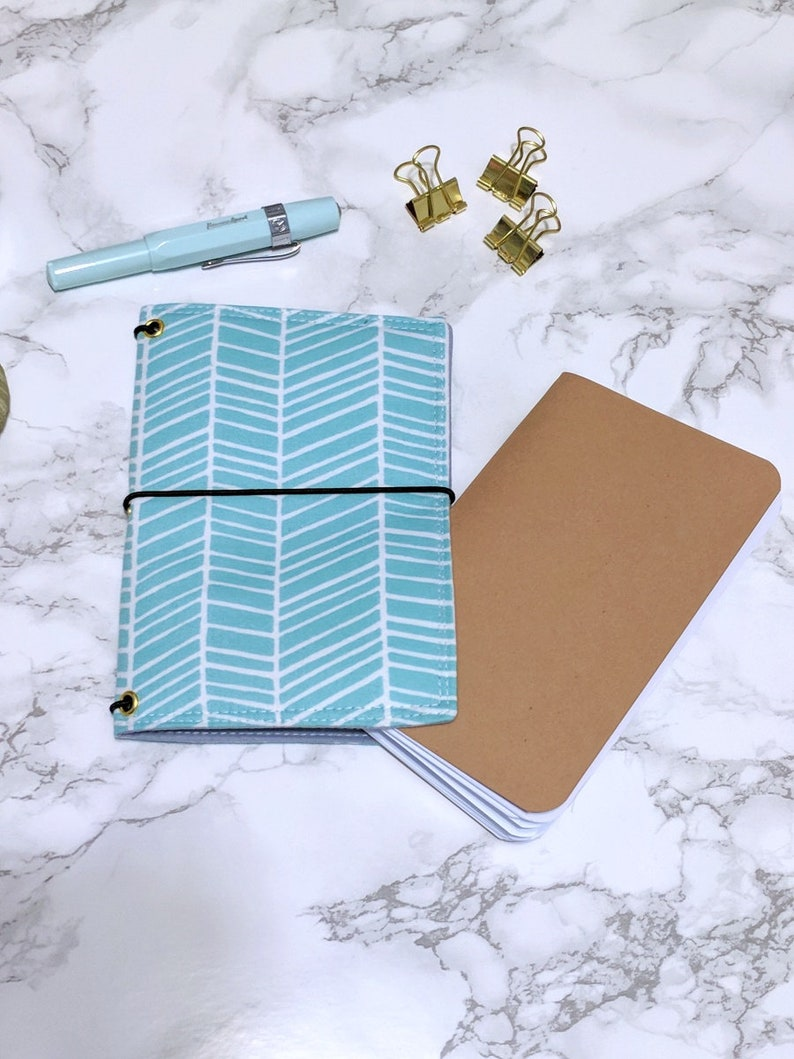 Blue Field Notes Cover // Pocket Passport Bullet Journal Bujo image 0