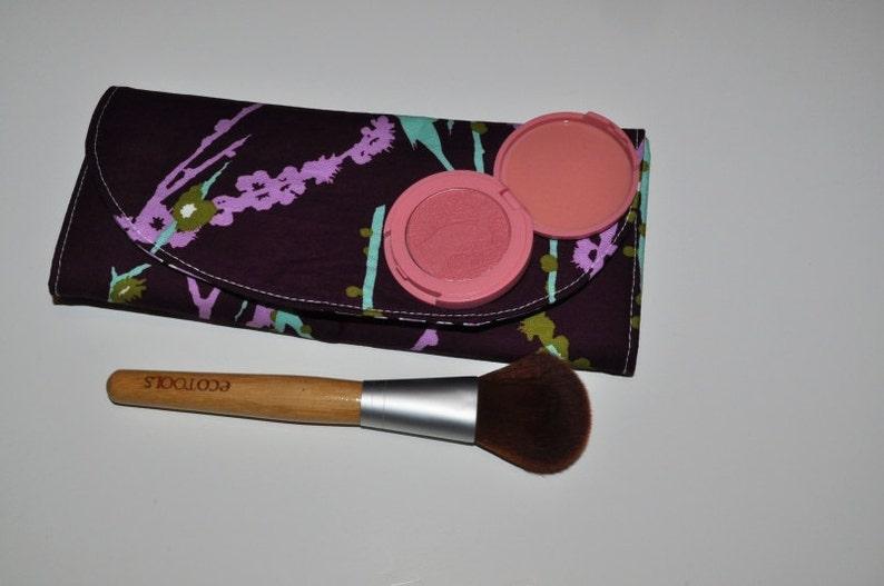 Purple Makeup Brush Organizer  Lilac  Plum Sparrow Print image 0