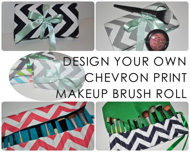 Chevron Brush Roll // Design Your Own Makeup Brush Organizer  image 0
