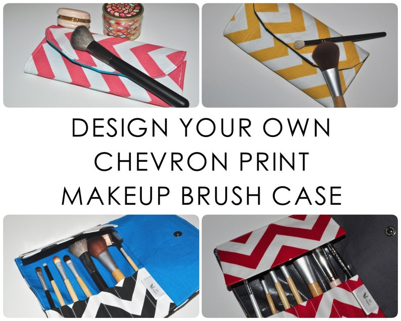 Chevron Makeup Brush Case // Design Your Own Travel Brush image 0