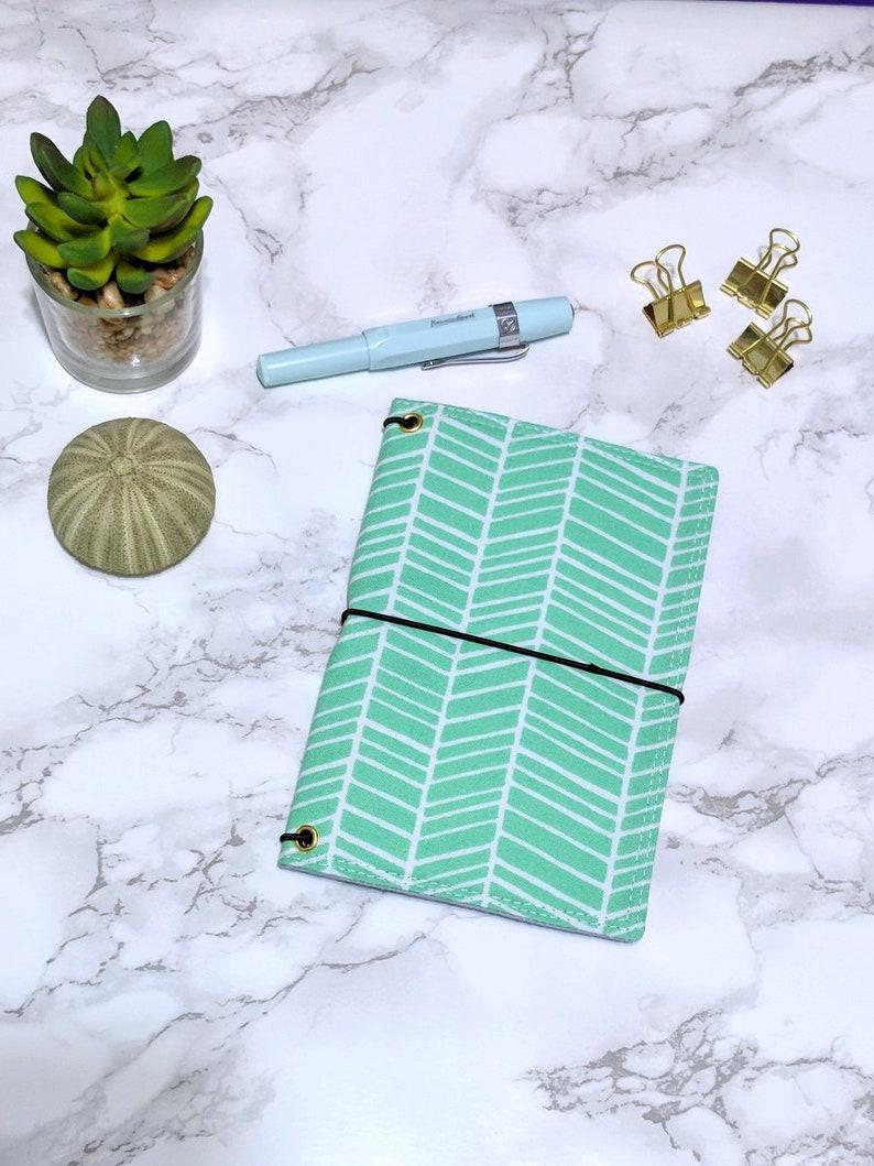 Green Field Notes Cover // Pocket Passport Bullet Journal Bujo image 0