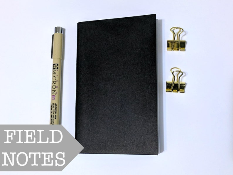 Field Notes Insert // Black Cover Fauxdori Journal  Bullet image 0
