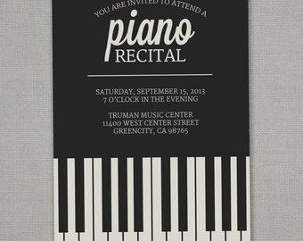 Recital Invitation Etsy